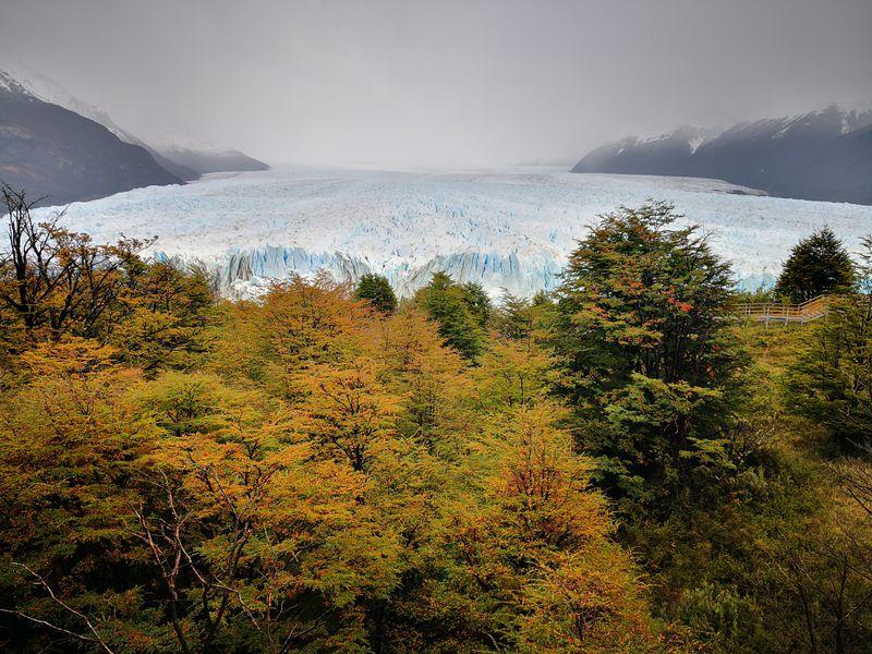 Perito Moreno Gletscher vom ersten Aussichtspunkt
