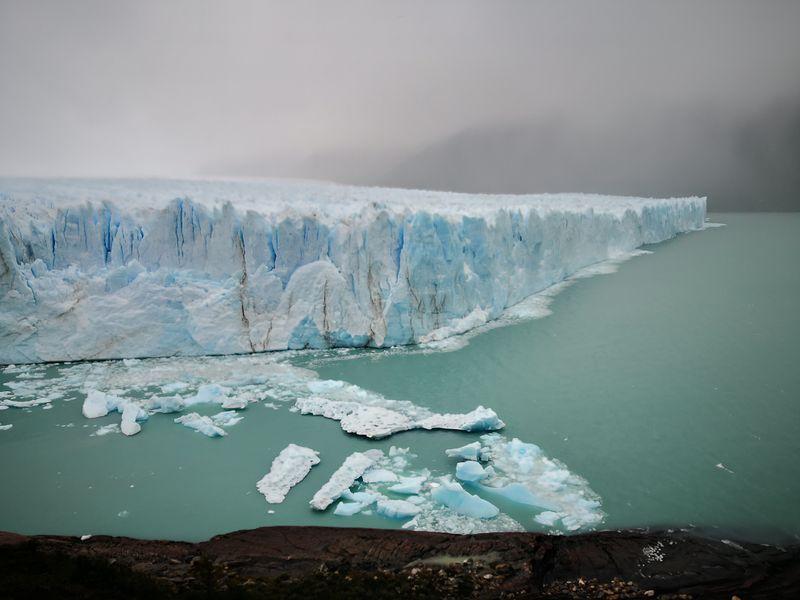 Eine Wand aus Eis