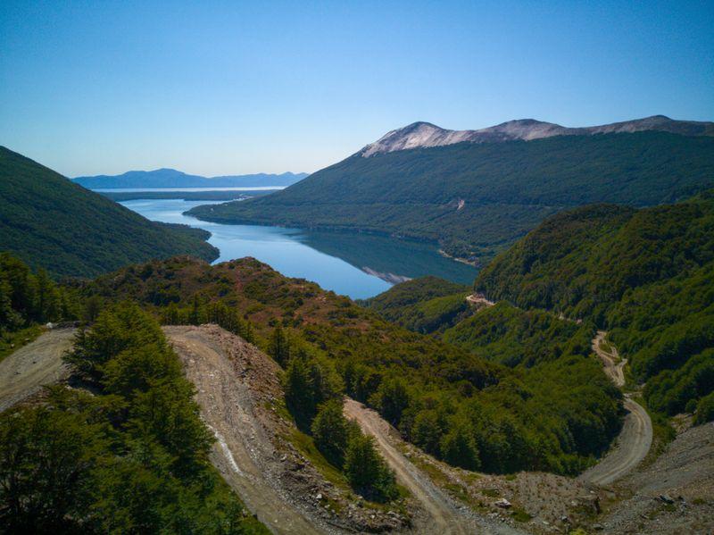 Aussicht über den Lago Escondido