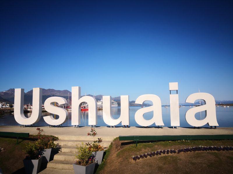 Schriftzug von Ushuaia