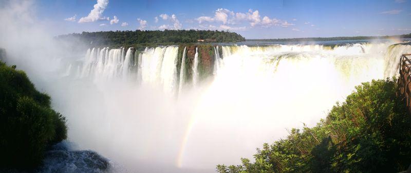 Blick auf die größten Wasserfälle