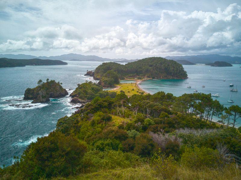 Aussicht von Motuarohia Island