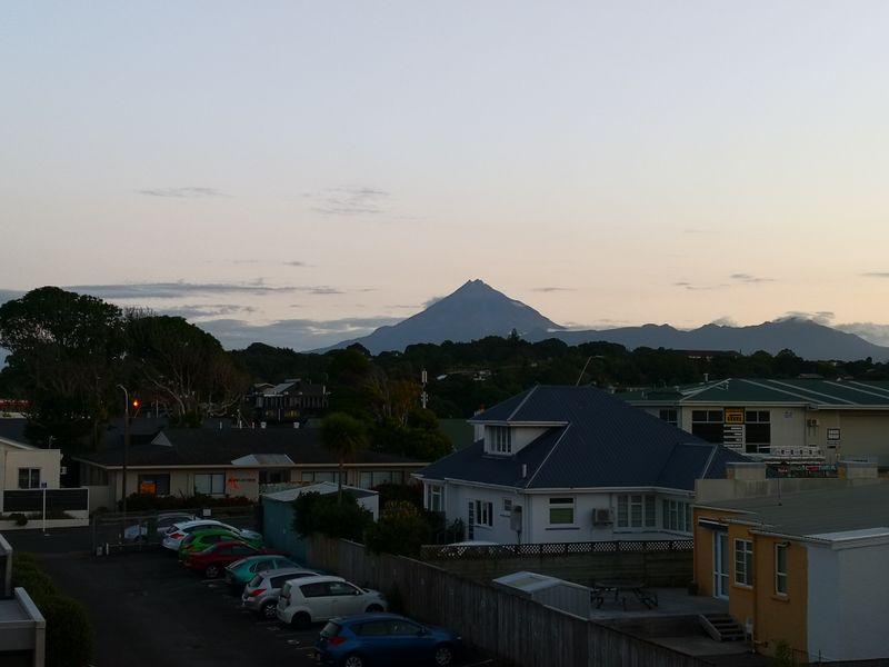 Voller Blick auf den Mt Taranaki