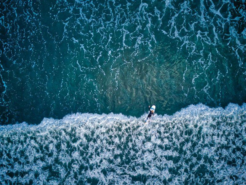 Ein Anfänger im flachen Wasser